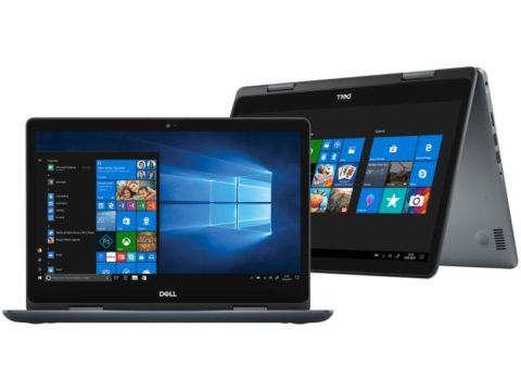 Notebook 2 em 1 Dell Inspiron i145481-A20S – Intel Core i5 8GB 1TB Touch Screen.
