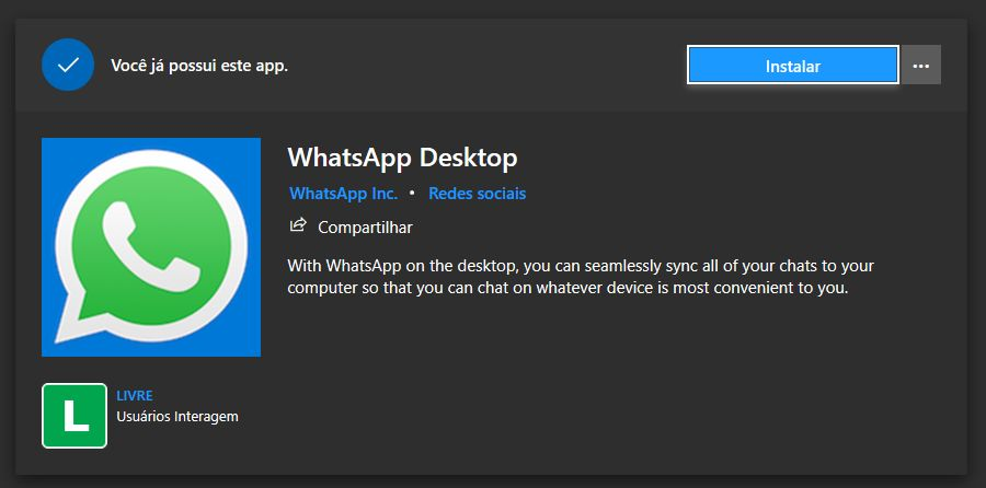 instalar whatsapp no notebook
