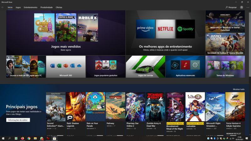 Esta tela do Microsoft Store deverá abrir